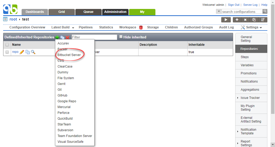 Working with Bitbucket Server - QuickBuild 8 0 x - PMEase